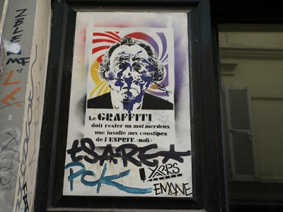 photo graffiti Paris 20eme arrondissement